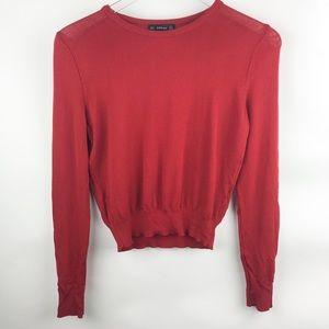 [Zara] Red Knit Long Sleeve Top